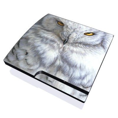 PS3 Slim Skin - Snowy Owl