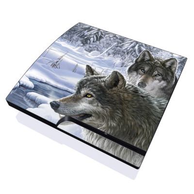 PS3 Slim Skin - Snow Wolves