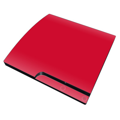 PS3 Slim Skin - Solid State Red