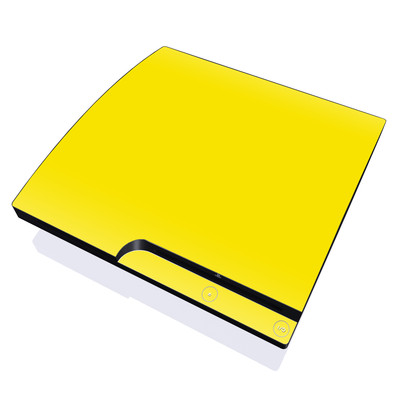 PS3 Slim Skin - Solid State Yellow