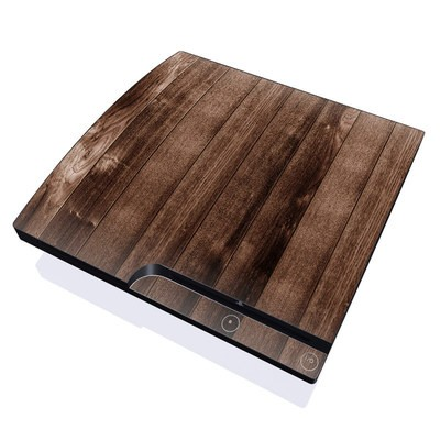 PS3 Slim Skin - Stained Wood