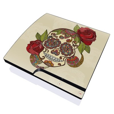PS3 Slim Skin - Sugar Skull