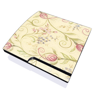 PS3 Slim Skin - Tulip Scroll