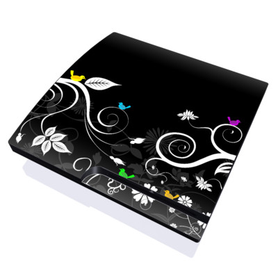 PS3 Slim Skin - Tweet Dark