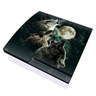 PS3 Slim Skin - Three Wolf Moon