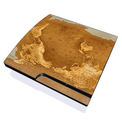 PS3 Slim Skin - Upside Down Map