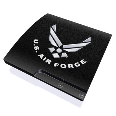 PS3 Slim Skin - USAF Black