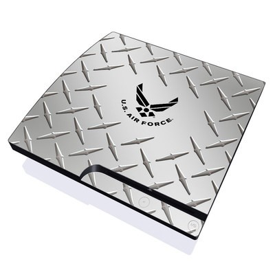 PS3 Slim Skin - USAF Diamond Plate