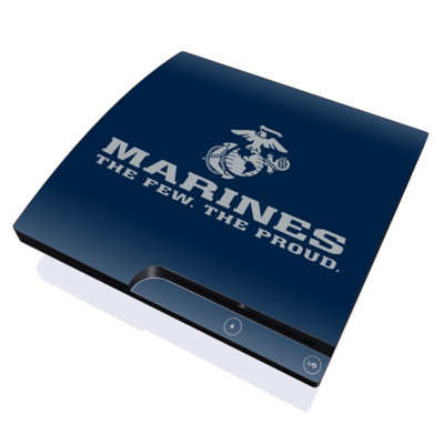 PS3 Slim Skin - USMC Blue