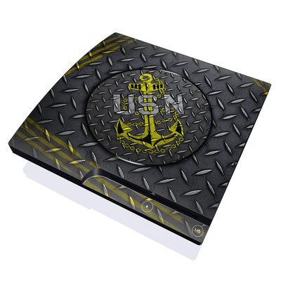 PS3 Slim Skin - USN Diamond Plate