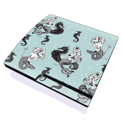 PS3 Slim Skin - Vintage Mermaid