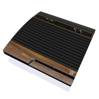 PS3 Slim Skin - Wooden Gaming System