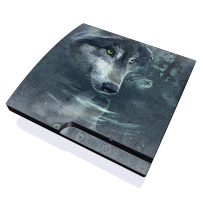 PS3 Slim Skin - Wolf Reflection