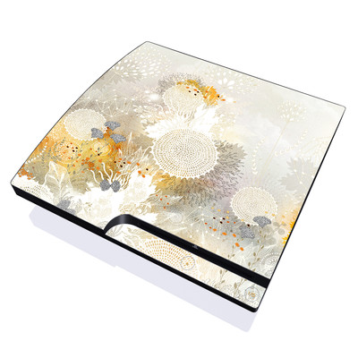 PS3 Slim Skin - White Velvet
