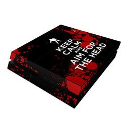 Sony PS4 Skin - Keep Calm - Zombie