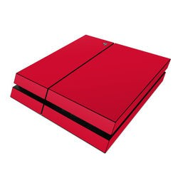 Sony PS4 Skin - Solid State Red