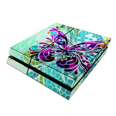 Sony PS4 Skin - Butterfly Glass