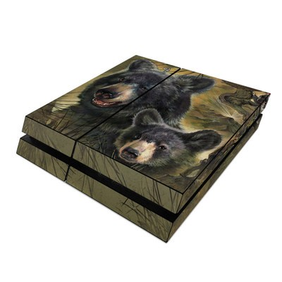 Sony PS4 Skin - Black Bears