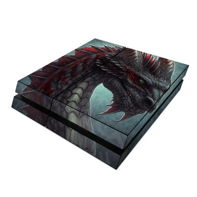 Sony PS4 Skin - Black Dragon