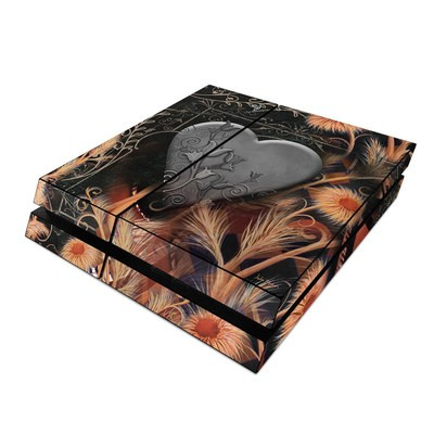 Sony PS4 Skin - Black Lace Flower