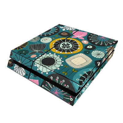 Sony PS4 Skin - Blooms Teal