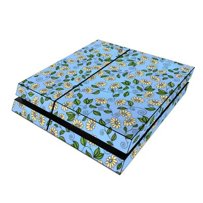 Sony PS4 Skin - Blue Daisy