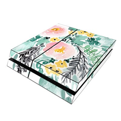 Sony PS4 Skin - Blushed Flowers