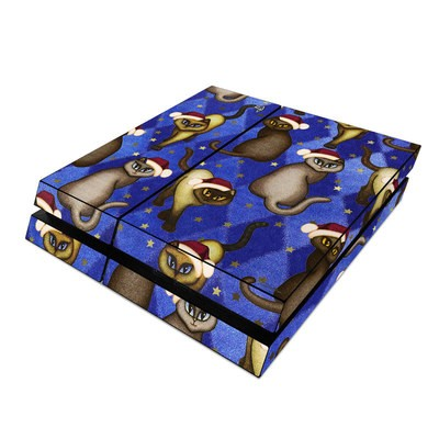 Sony PS4 Skin - Christmas Cats