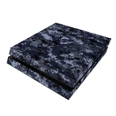 Sony PS4 Skin - Digital Navy Camo
