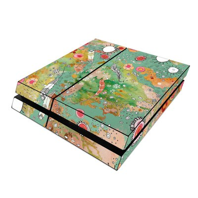 Sony PS4 Skin - Feathers Flowers Showers