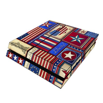Sony PS4 Skin - Flag Patchwork