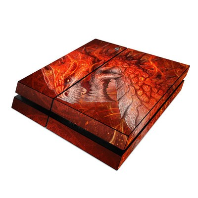 Sony PS4 Skin - Flame Dragon