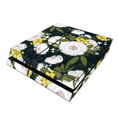 Sony PS4 Skin - Fleurette Night