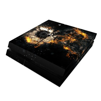 Sony PS4 Skin - Flower Fury