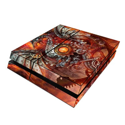 Sony PS4 Skin - Furnace Dragon