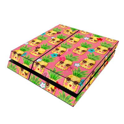 Sony PS4 Skin - Happy Kawaii Pineapples