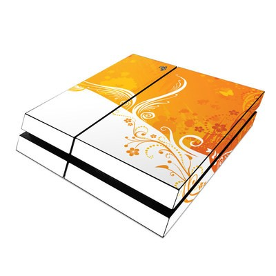 Sony PS4 Skin - Orange Crush