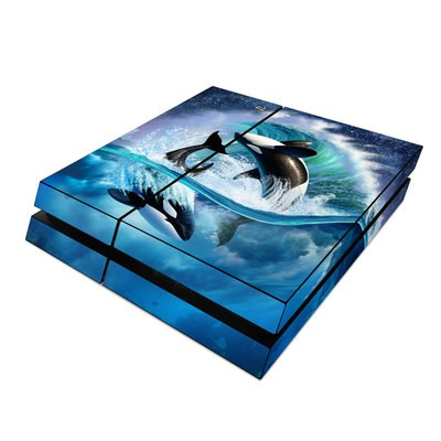 Sony PS4 Skin - Orca Wave