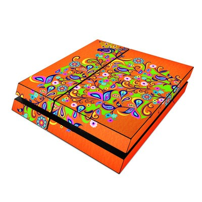 Sony PS4 Skin - Orange Squirt