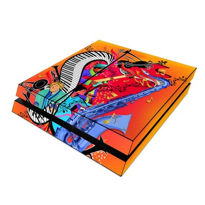 Sony PS4 Skin - Red Hot Jazz