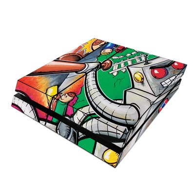 Sony PS4 Skin - Robot Beatdown