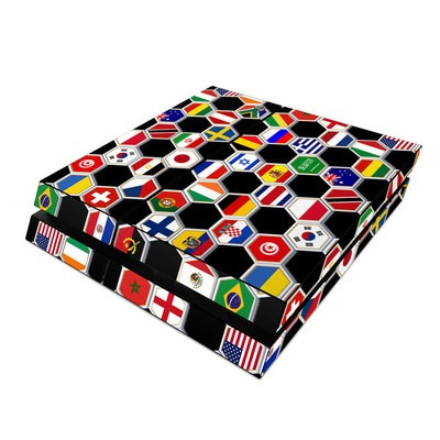 Sony PS4 Skin - Soccer Flags