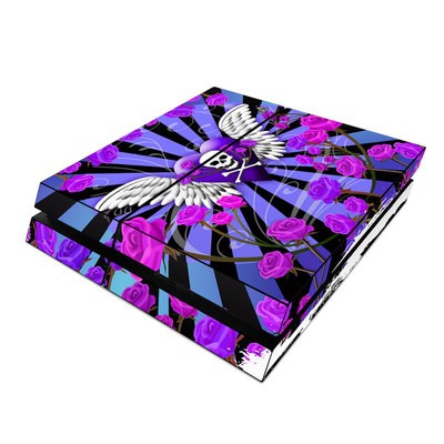 Sony PS4 Skin - Skull & Roses Purple