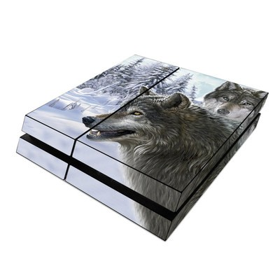 Sony PS4 Skin - Snow Wolves