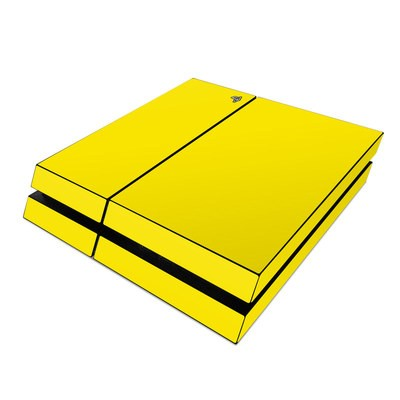 Sony PS4 Skin - Solid State Yellow