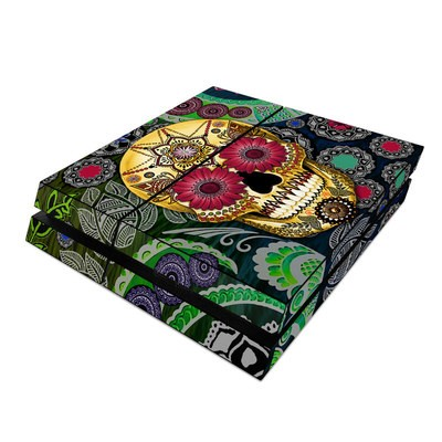 Sony PS4 Skin - Sugar Skull Paisley