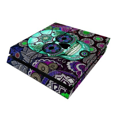 Sony PS4 Skin - Sugar Skull Sombrero