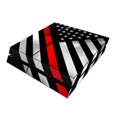 Sony PS4 Skin - Thin Red Line Hero