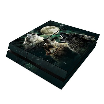 Sony PS4 Skin - Three Wolf Moon