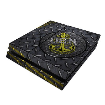Sony PS4 Skin - USN Diamond Plate